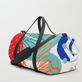 Spring Festival, Botanical, Floral Abstract Duffle Bag