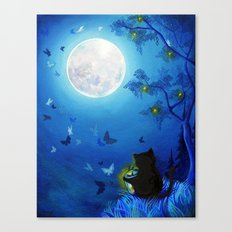 Butterflies and Fairy Lanterns Canvas Print