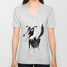 Basic Border Collie Unisex V-Neck