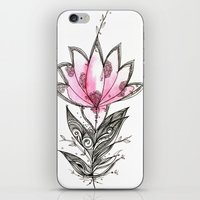 lotus flower iPhone & iPod Skins featuring Lotus by Himadri Pachori