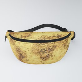Arty Vintage Old World Map Fanny Pack