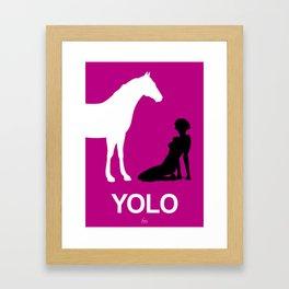 YOLO #2 Framed Art Print