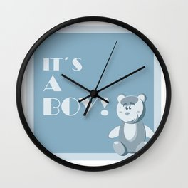 it`s a boy!  Wall Clock
