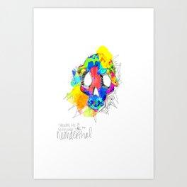 Neonderthal Skull Art Print