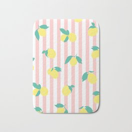 Lemon stripe print Bath Mat