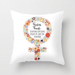 Fearless Female Throw Pillow
