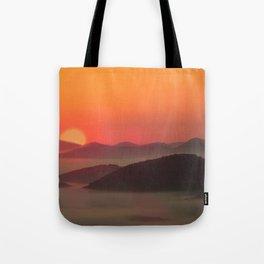 Sunrise Over Blue Ridge Mountains Tote Bag