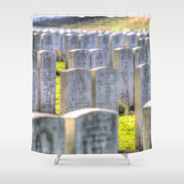World War One War Graves Etaples Military Cemetery Shower Curtain