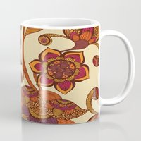 boho Mugs featuring Boho Flowers by Valentina Harper
