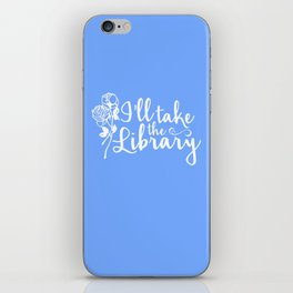 I'll Take the Library + Belle Blue iPhone Skin