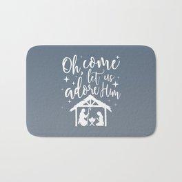 Let Us Adore Him Bath Mat