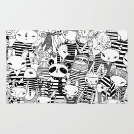 Animals in stripes Rug