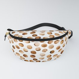 Watercolor Dots // Russet Brown Fanny Pack