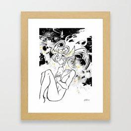 Inktober : Galaxy Framed Art Print