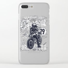San Francisco Cafe Racer Motorcycles Clear iPhone Case