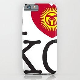 I Love Kyrgyzstan iPhone Case