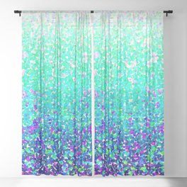 Color Dots Background G212 Sheer Curtain