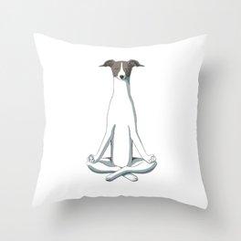 Yoga Italian Greyhound Throw Pillow