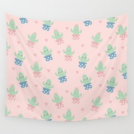 Happy cactus pattern Wall Tapestry