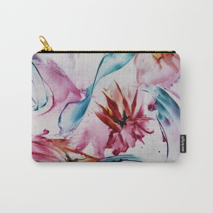 Asters Carry-All Pouch