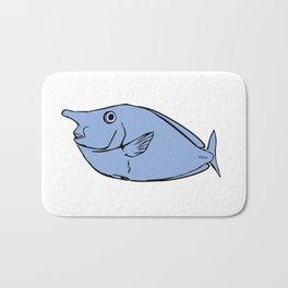 Unicorn fish illustration Bath Mat
