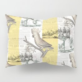 Vintage Tropical Cockatoo Pattern Pillow Sham