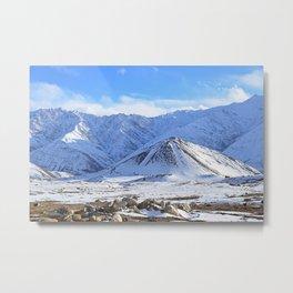 Beautiful Winter Season Landscape Metal Print