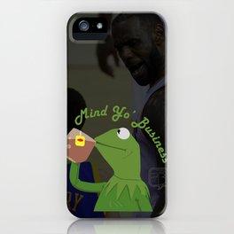 Mind Yo Business iPhone Case