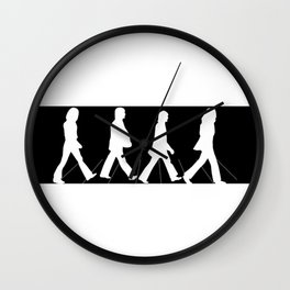 The Fab Four Monochrome Image Wall Clock
