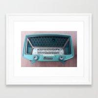 radio Framed Art Prints featuring VINTAGE RADIO by 2sweet4words Designs