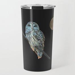 Owl, See the Moon (Barred Owl) Travel Mug