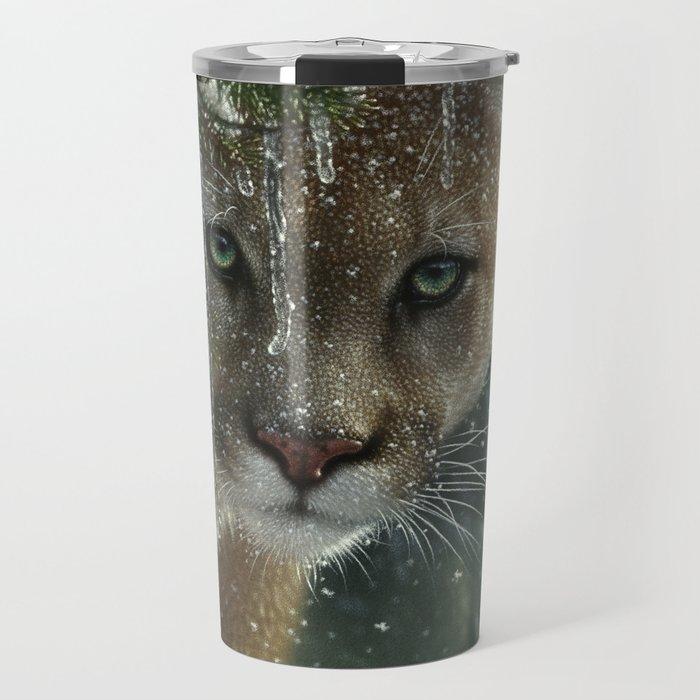 Cougar / Mountain Lion - Frozen Travel Mug