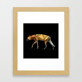 Wild African Dog. Framed Art Print