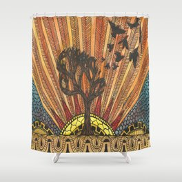 BAHRAIN TREE Shower Curtain