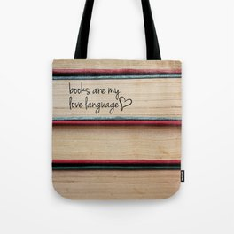 Stack of Books- Love Language Tote Bag