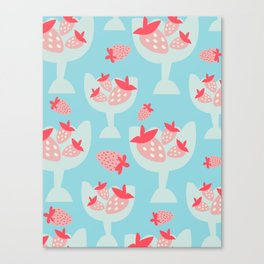 Strawberry Dessert Canvas Print