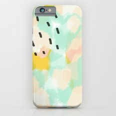Sammy's Twin - Soft green abstract digital painting iPhone 6s Slim Case
