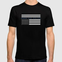 Fuck the Police American Flag T-shirt