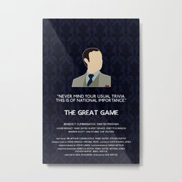 The Great Game - Mycroft Holmes Metal Print