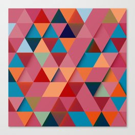 Colorfull abstract darker triangle pattern Canvas Print