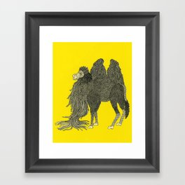 Yellow Camel Framed Art Print