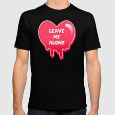 pastel melty heart leave me alone Black MEDIUM Mens Fitted Tee