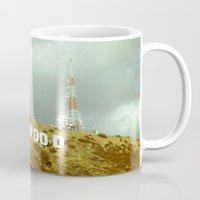 hollywood Mugs featuring Hollywood by Umbrella Design