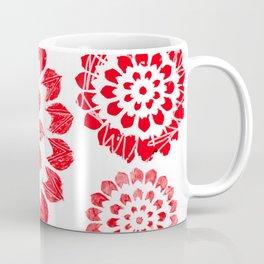 Modern Mandalas, Minimalist, Red Scheme, Coffee Mug