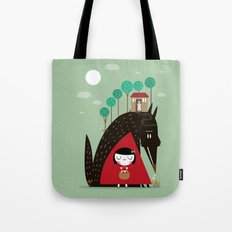 Story telling: little red Tote Bag