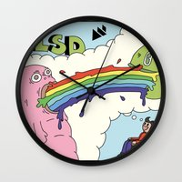 lsd Wall Clocks featuring LSD by My Big Fat Brand