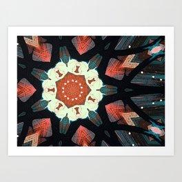 Black web 1 Art Print