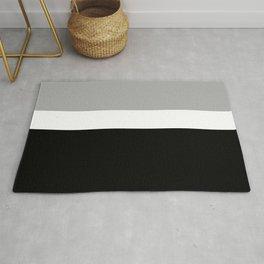 Minimal Abstract Black White 02 Rug