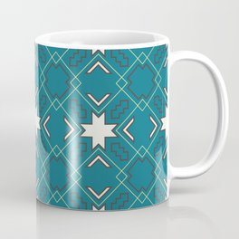Ethnic pattern in blue Coffee Mug