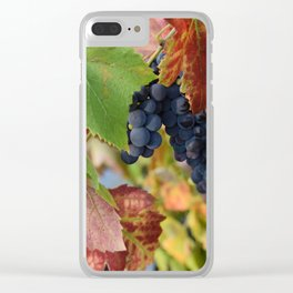 Grapes Ripening In The Vines Clear iPhone Case